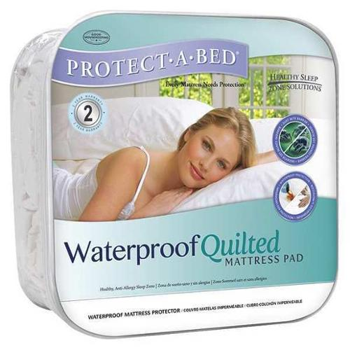 PROTECT-A-BED QG1128 Mattress Pad, Full, Cotton, PK6