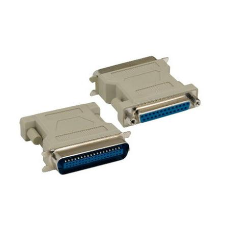 Kentek DB25 25 Pin Female to CN36 36 Pin Male, Male to Female M/F Molded Centronics Parallel Printer Adapter Gender Changer Coupler RS-232 (Male Molded Gender Changer)