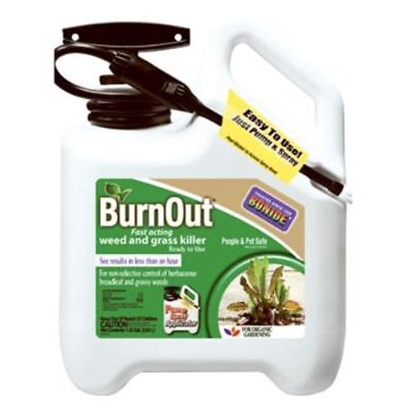 1.33 Gallon Ready To Use BurnOut With Sprayer All Natural Weed and