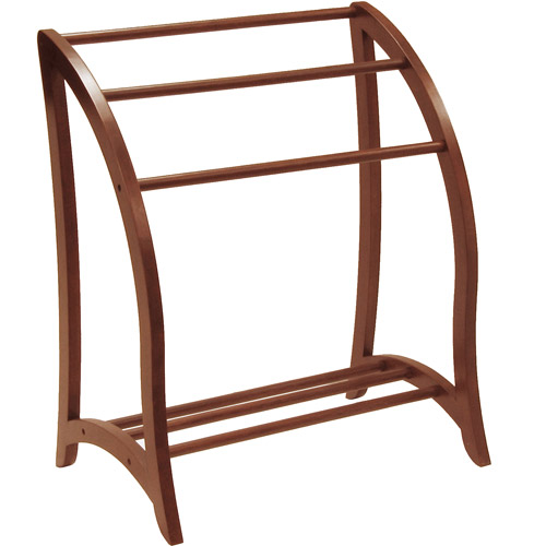 3 Rack Blanket/Towel Holder, Walnut