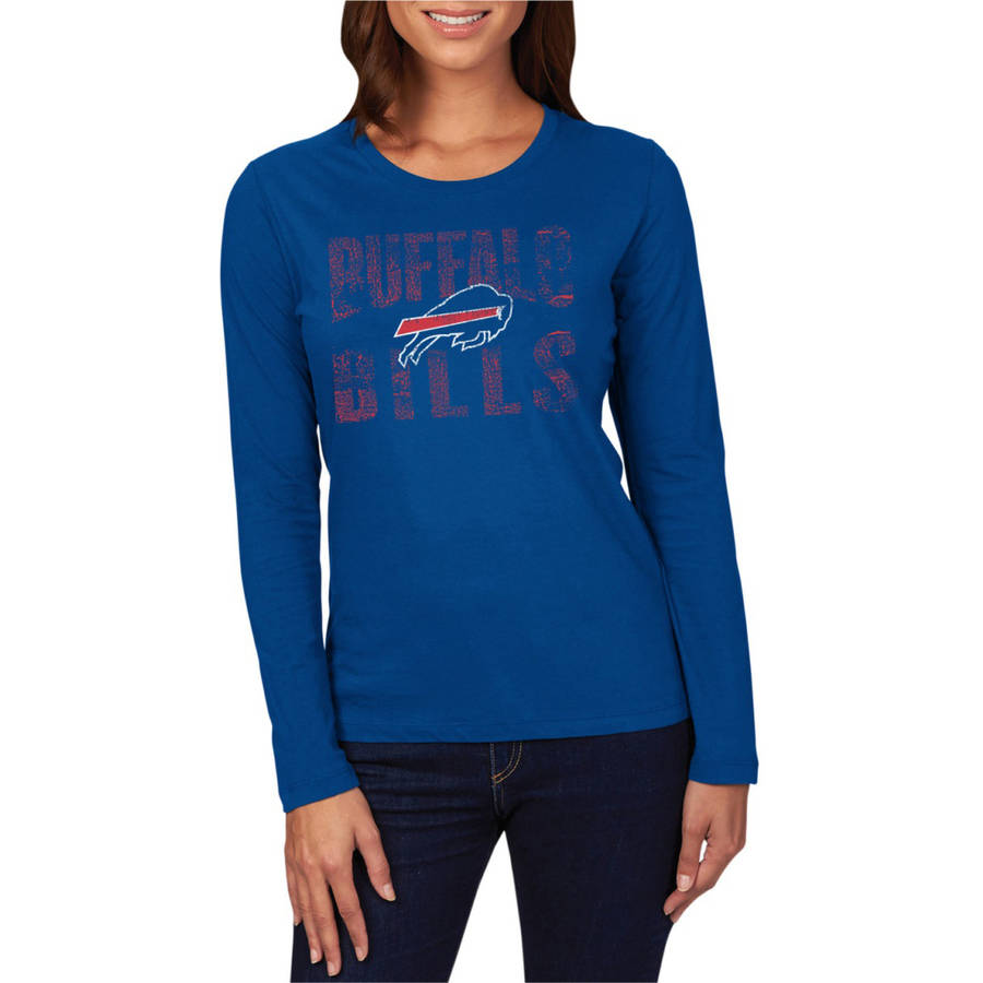 NFL Buffalo Bills Women's Long Sleeve Crew Neck Tee