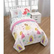 Princess, Ariel, Aurora, Belle Full Comforter, Sheets + Bonus Shams (7 Piece Bed in a Bag)