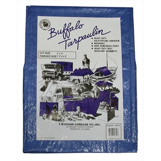 T.W. Evans Cordage 05100 50 ft. x 100 ft. Buffalo Poly Tarpaulin in Blue