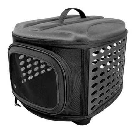 Iconic Pet - Deluxe Retreat Foldable Pet House - Black