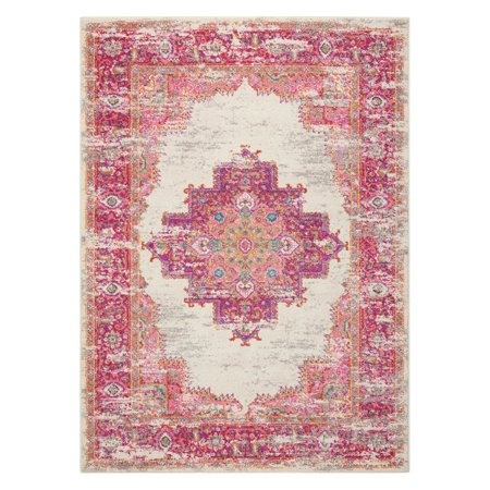 Nourison Passion Bordered Ivory Area Rug or Runner - Nourison Machine Made Rugs