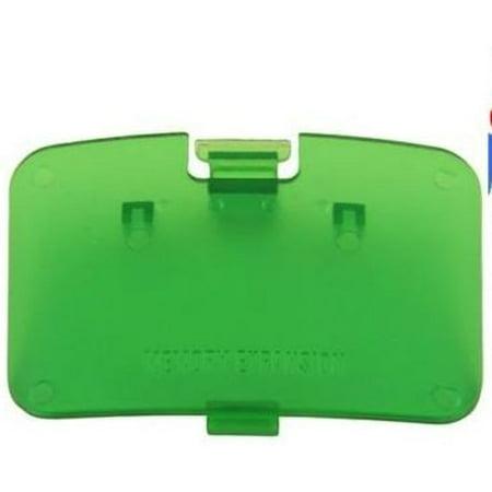 JUNGLE GREEN N64 Memory Expansion Pak Cover - Jumper Pak Lid (Nintendo 64) -