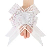 AkoaDa 10Pcs Snow Yarn Bow Floral Decoration Craft Bow Solid Color Drawstring is Perfect for Pet Parties Christmas Wedding and Gift Packaging