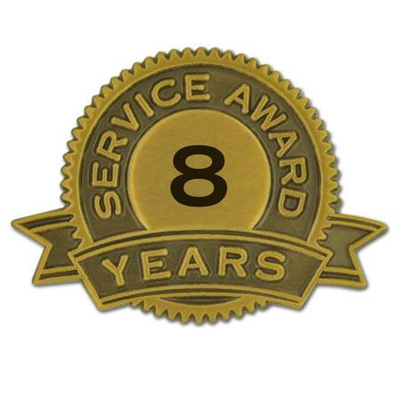PinMart's 8 Years of Service Award Employee Recognition Gift Lapel Pin - - Employee Lapel Pin