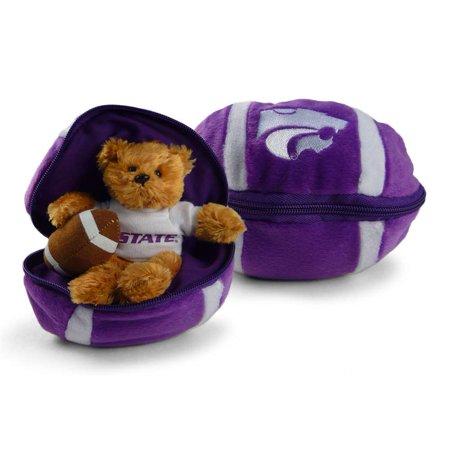 Kansas State Wildcats Stuffed Bear In A Ball   Football