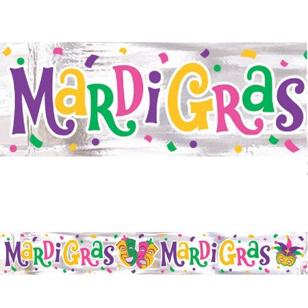 Mardi Gras Foil Banner 9 ft for $<!---->