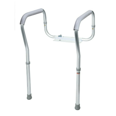 Carex Toilet Safety Frame with Height Adjustable Legs and Width Adjustable Handles ()
