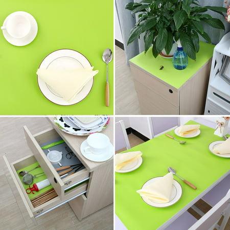 Cuisine Tapis Papier mat imperméable Cabinet Table Placard Tiroir Doublure Protecteur Vert 60 x 100cm - image 3 de 7