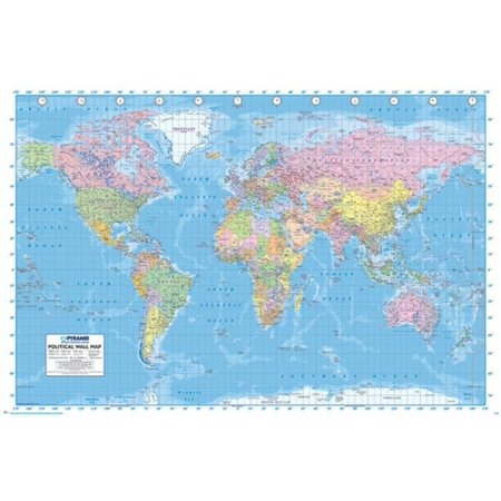World Map Poster Poster Print Walmart Com
