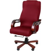 Office Chair Cover Computer Chair Universal Boss Chair Cover Modern Simplism Style High Back Large Size (Chair not included) red large