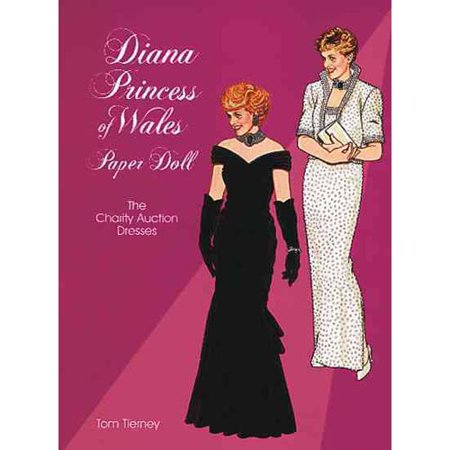 Diana Princess of Wales Paper Doll: The Charity Auction Dresses