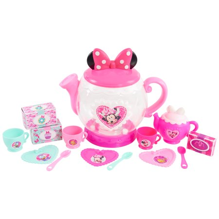 Minnie's Happy Helpers Terrific Teapot Set, 14 pieces includes, Age 3+ - Kids Tea Party Set