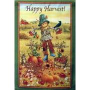 Happy Harvest Scarecrow Fall House Flag Autumn Harvest Farm Barn