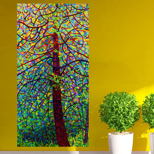My Wonderful Walls Abstract Forest Kaleidoscope Wall Decal