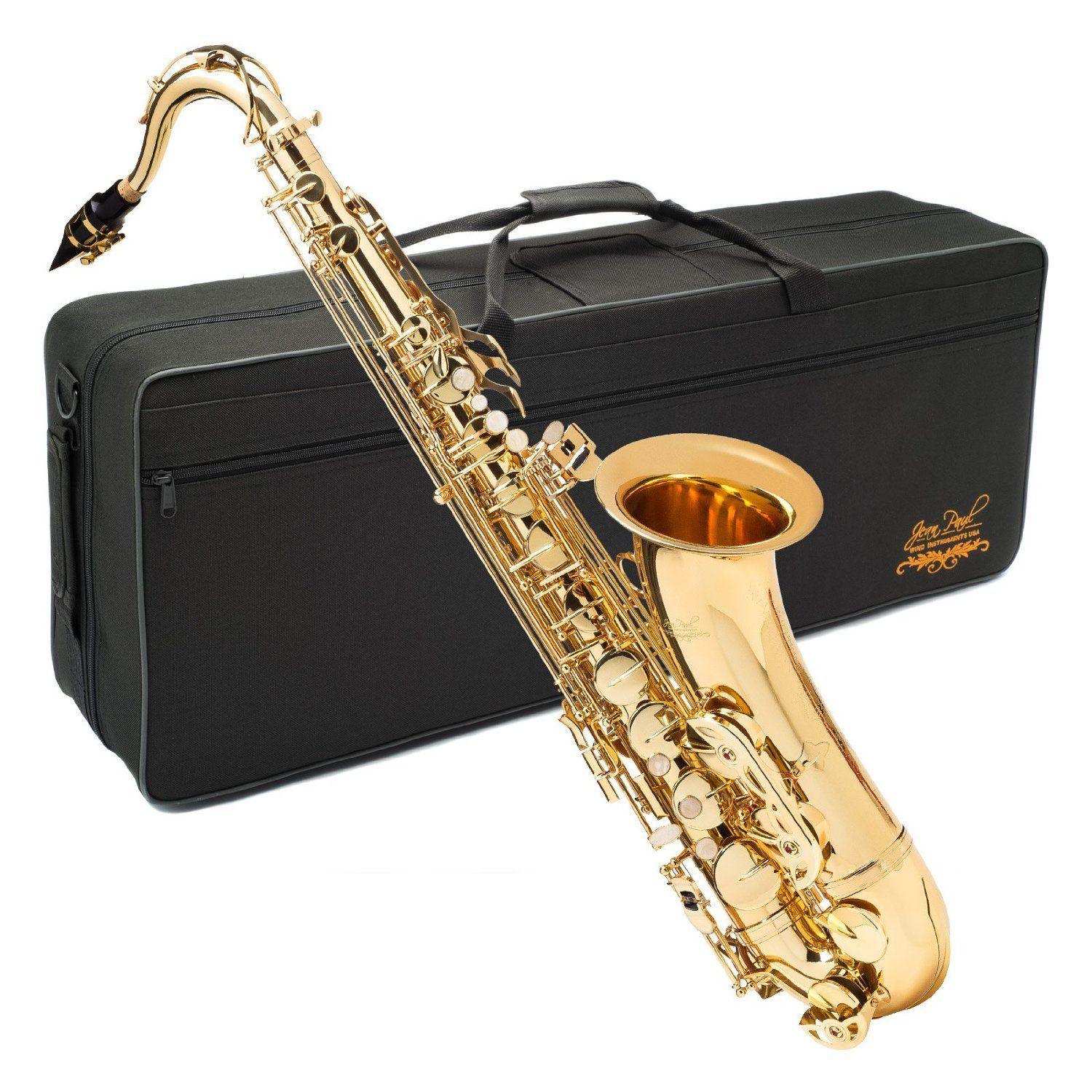 Jean Paul USA TS-400 Tenor Saxophone - Key Of Bb With Brass Body And Case - Beginning & Intermediate!