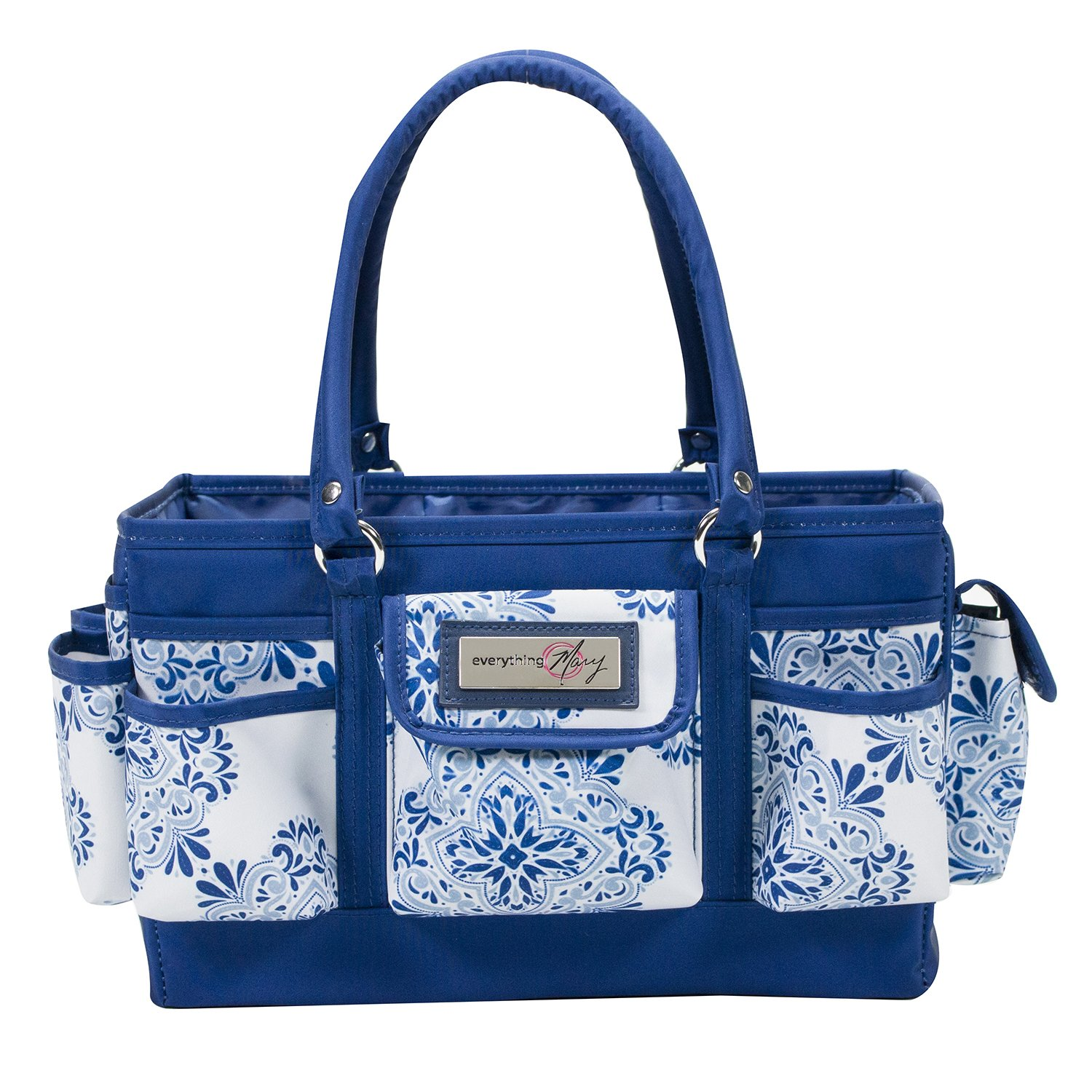 Everything Mary Craft Deluxe Store & Tote, Blue & White