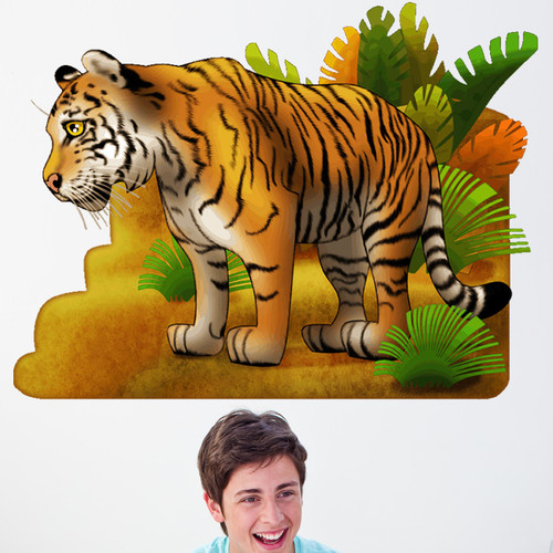 Wallhogs Tiger I Cutout Wall Decal