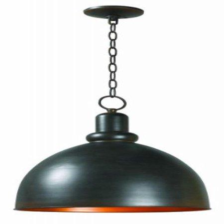 World Imports 9311-42 Loft Collection Single Light Iron Pendant, Rust Collection Pendant Lighting