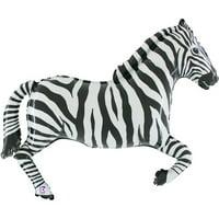 Zebra Shaped Mylar Balloon