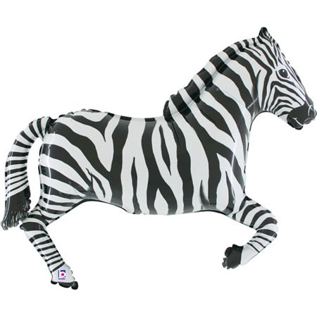 Zebra Shaped Mylar Balloon (Woodstock Shaped Mylar Balloon)