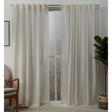 - Exclusive Home Curtains 2 Pack Muskoka Teardrop Slub Embellished Hidden Tab Top Curtain Panels