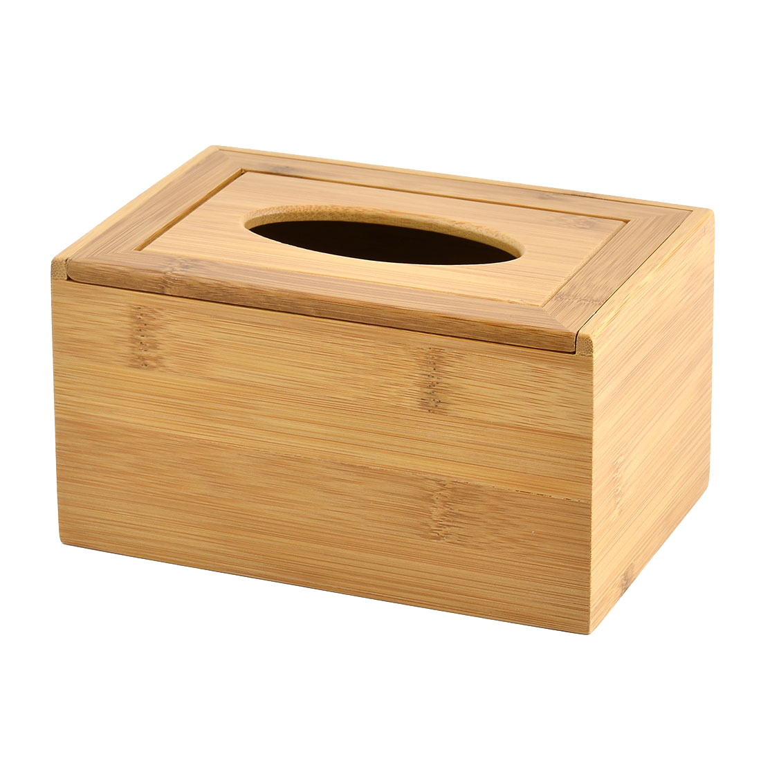 Uxcell Household Parlour Bamboo Rectangle Shaped Tissue Paper Box Case Holder Organizer