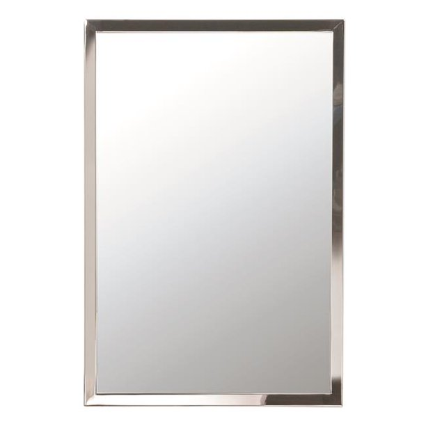 Afina Us 3 8 2030 B 20 X 30 In Urban Rectangle Wall Mirror With 0 375 In Frame Brushed Stainless Steel Walmart Com Walmart Com