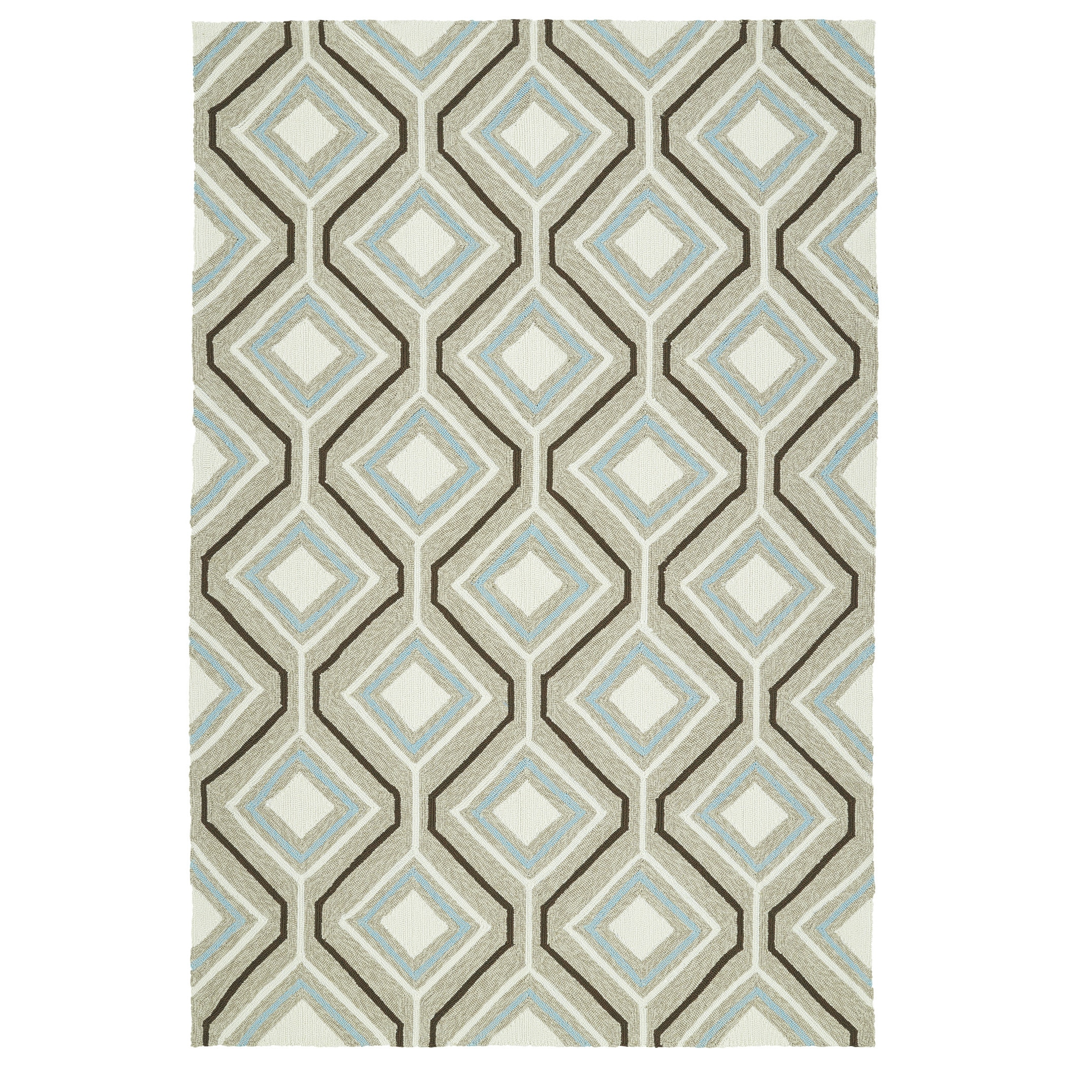 Kaleen Rugs Escape Indoor/Outdoor Rug, Light Brown, 2' x 3'