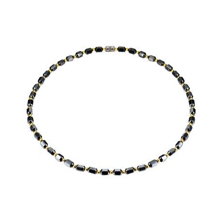 Healing Hematite Magnetic Colorful Design Necklace Choker  J-330