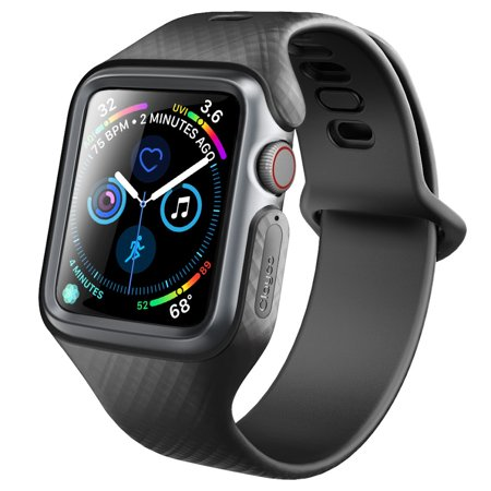 new arrival 13db9 033be Apple Watch 4 Band 40mm, Clayco [Hera Series] Ultra Slim Protective Shock  Resistant Bumper Case Strap Bands 40mm Apple Watch Series 4 2018 (Black)