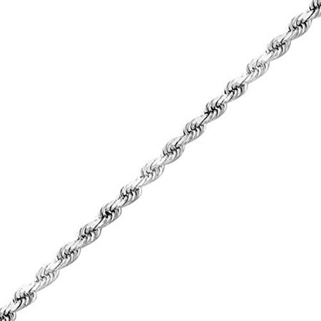 925 Sterling Silver Necklace Italian 1.4mm Rope Chain , Hypoallergenic 36 inch , - 925 Sterling Silver 17 Chain