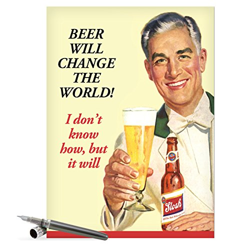 J0183 Jumbo Funny Father's Day Card: Beer Change Large Card With Envelope, NobleWorks Cards, Card for Dad