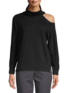 Calvin Klein Performance Women's Mock-Neck Cold-Shoulder Top