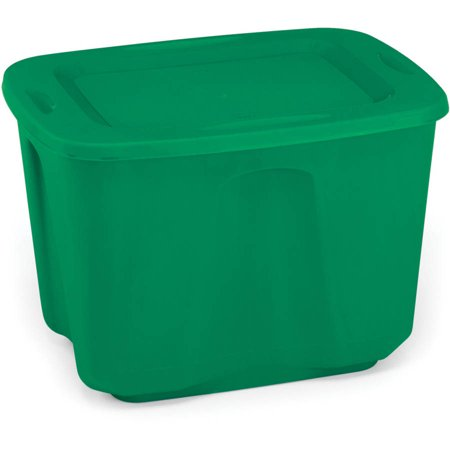 Homz 18 Gallon Green Holiday Storage Tote Set Of 8