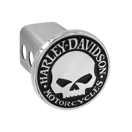Harley Davidson Hitch Plug (Harley-Davidson Willie G. Skull Trailer Hitch Cover 2'' Stainless Steel HDHC240, Harley Davidson)