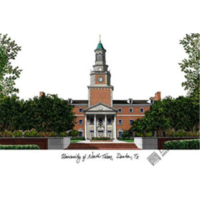 University of North Texas Campus Images Lithograph Print