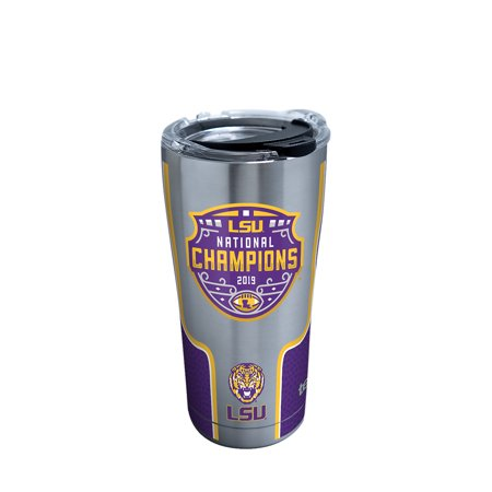 NCAA LSU Tigers 2019 National Champions 20 oz Stainless Steel Tumbler with lid