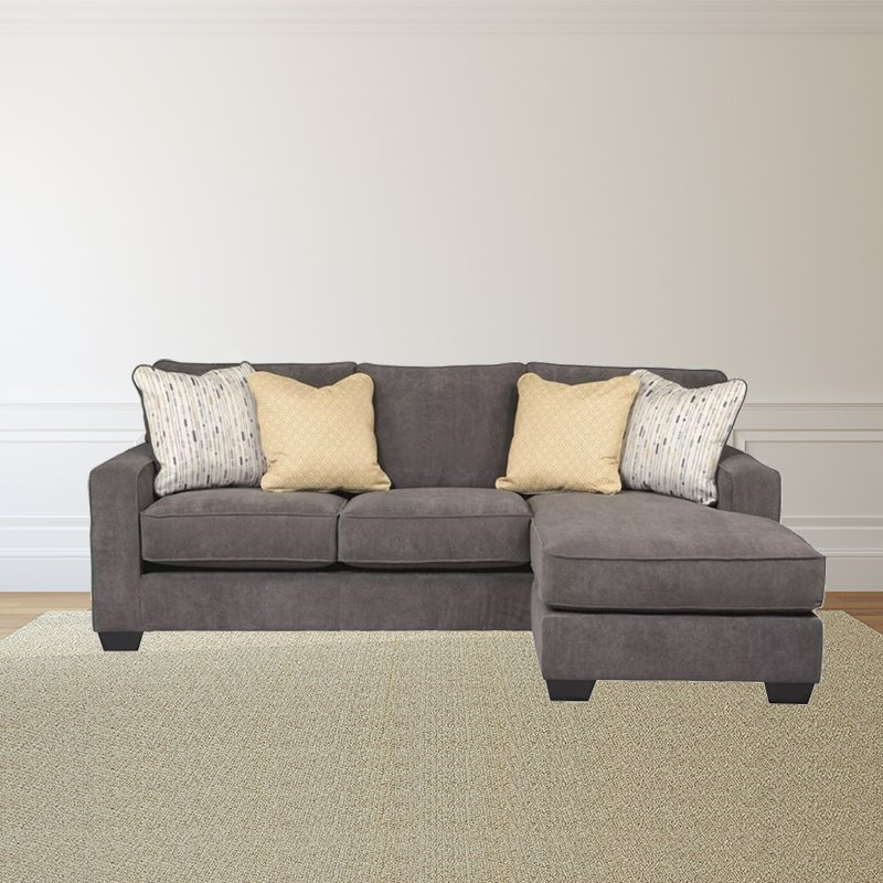 Trent Home Hearthstone 2 Piece Fabric Sectional in Marble
