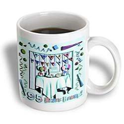 3dRose Birthday Room in Green Happy Birthday 95 Years Old, Ceramic Mug, 11-ounce for $<!---->