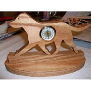 Fine Crafts 480CLK Wooden Cheseapeake Bay Retriever mini desk clock