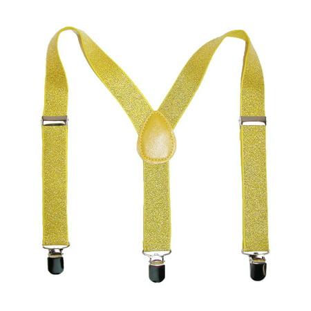 Size one size Kid's Elastic Glitter - Glitter Suspenders