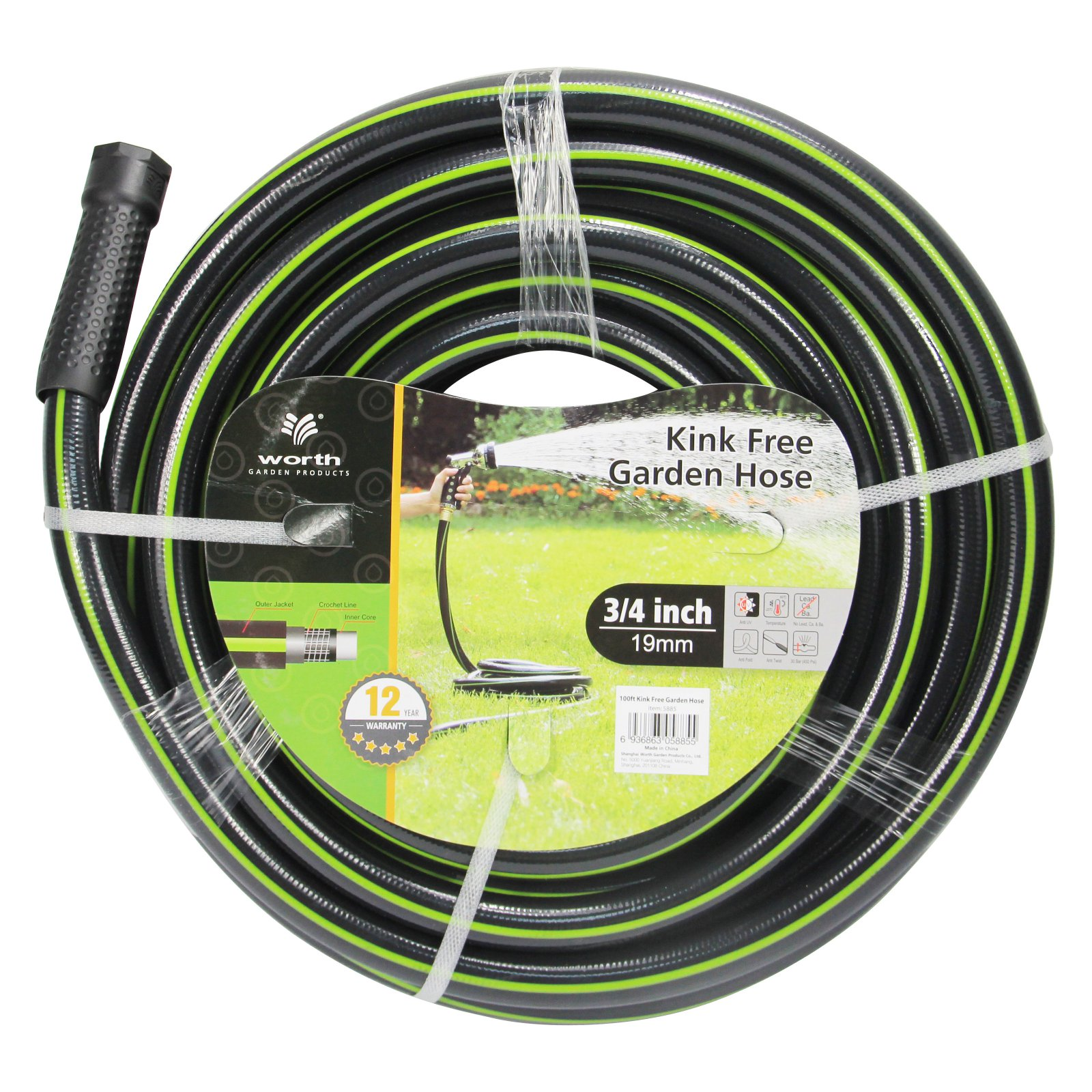 Worth Garden 3 4 in. Heavy Duty Garden Hose by