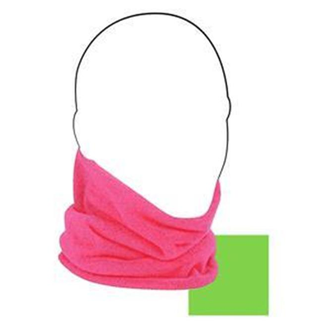 Cold Weather Headwear WFMFN002HV Neck Gaiter, Microfleece, Hot Pink Reverses to High-Vis Lime - image 1 of 1