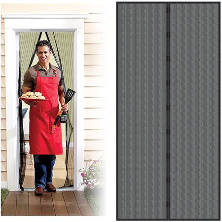 Trademark home auto open and close magnetic screen door for French door magnetic screen