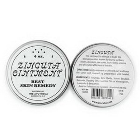 Zincuta Skin Ointment for Psoriasis, Eczema, Dry Skin, Chapped Lips, Poison Ivy Blisters, Burn Injuries, and Many More Skin Ailments(2 oz/2