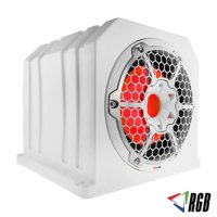 "10"" Marine Grade Subwoofer with Passive Sub 4 Ohms 700 Watt Max RGB Lights White"